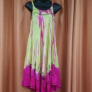 L.S.I.  tie dye dress. Free Size